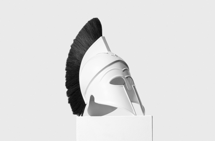 Roman helmet. Upton Belts MMXV shoot by Wedge and Lever. #Roman #sculpture #mohawk #war #real #no3d #white #black #flag #liberation #statue