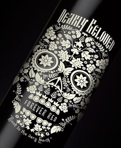 dearlybeloved2.jpg (400×490) #ornate #bottle #label #wine #skull