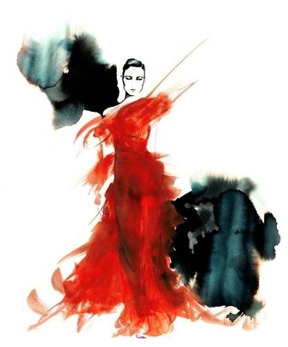 DARLING management - Amelie Hegardt #darling #hegardt #dance #amelie #management #watercolour