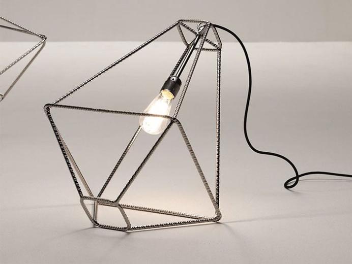 Steel Table Lamp by Sara Bernardi