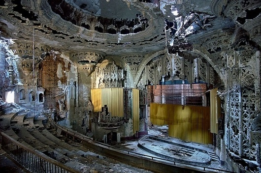 Yves Marchand & Romain Meffre Photography - The Ruins of Detroit #beautiful #old #opera