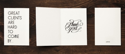 Justlucky | Print, Branding and Typography #script #you #card #print #screen #thank #justlucky #french #paper #typography