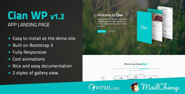 Cian - Mobile App Landing Page WordPress Theme