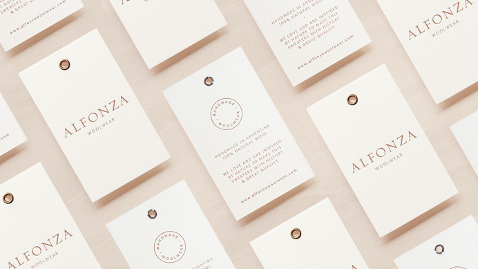 Alfonza woolwear branding corporate design minimal beauty We are Asís buenos aires argentina mindsparkle mag fashion style beige pink women