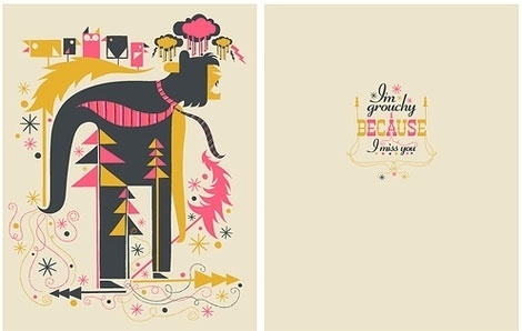 grain edit · mr. mannun card and poster design #christmas #card #illustration #beast