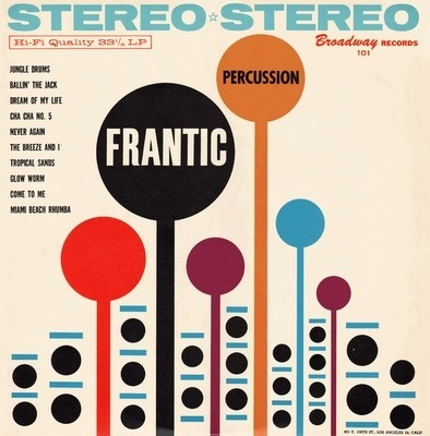 Project Thirty-Three: Frantic Percussion #project #thirty #design #graphic #sleeve #record #three