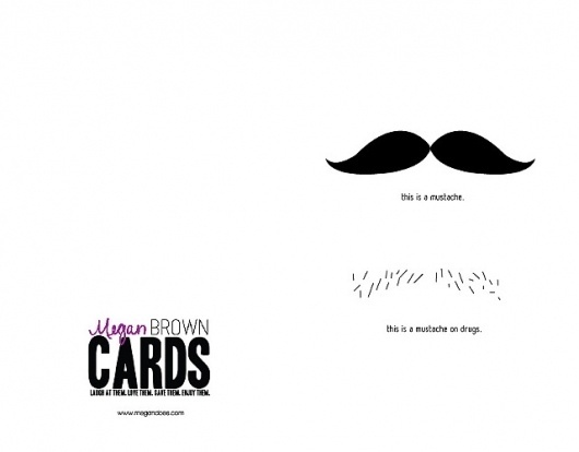 Megan Brown | greeting cards #greeting #cards #mustache