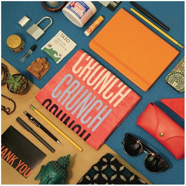 Joelle Mckenna — What's In Your Gym Bag? #hot #retouched #crunch #social #bright #red #modern #stack #color #design #physical #colors #instagram #photo #lift #gym #photography #weights #bag #media #life #complimentary #stark #boxing #fitness #minimal #layout #still #editorial