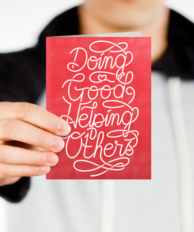 Spirit of giving notecard_1024x1024 #typography