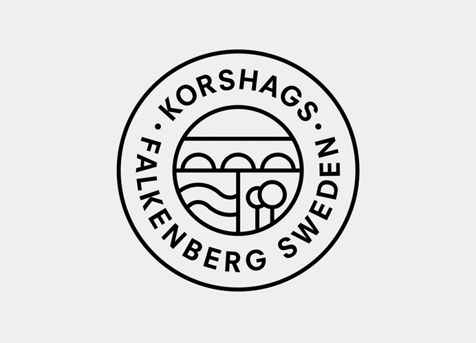 Logo design for Swedish seafood producer Korshags by Kurppa Hosk #;ilyf