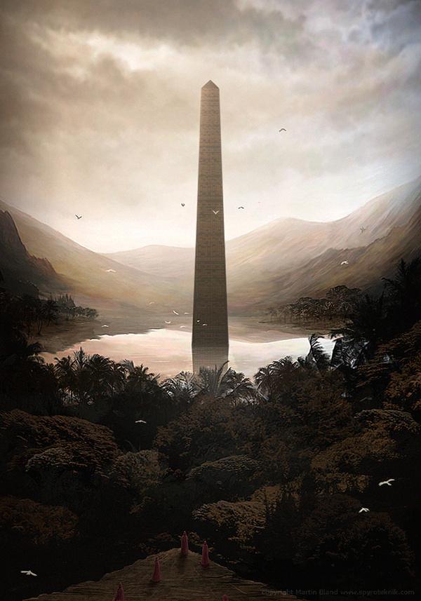 The Art Of Animation, Martin Bland #monument #height #landmark #digital #illustration #concept #art #tall #tower #obelisk