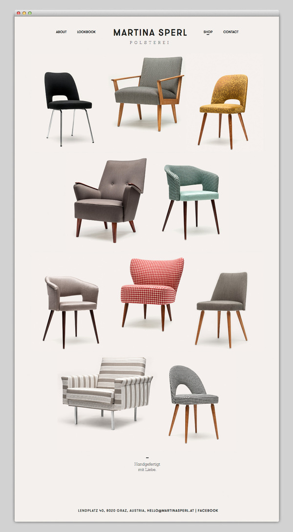 Martina Sperl #website #layout #design #web