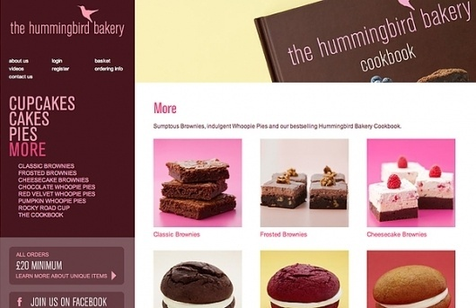 Hummingbird Bakery – website & eCommerce design on Web Design Served