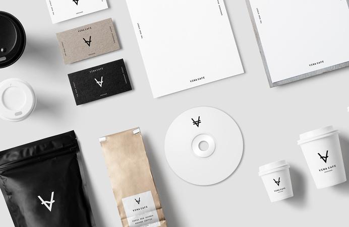 Vima cafe branding logo corporate design london uk england mindsparkle mag cup coffee drink restaurant bar print stationery brand branding