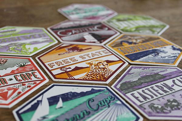 9 unique letterpresses South Africa coasters #design #letterpress #south africa #coasters