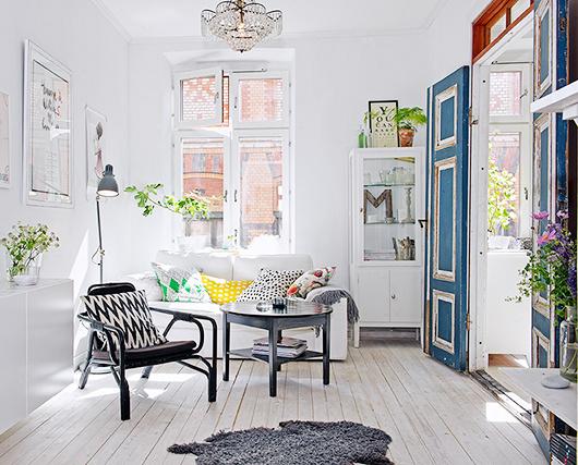french blue in sweden / sfgirlbybay #interior design #decoration #decor #deco