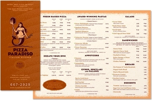 design work life » Pizza Paradiso Branding #menu #pizza