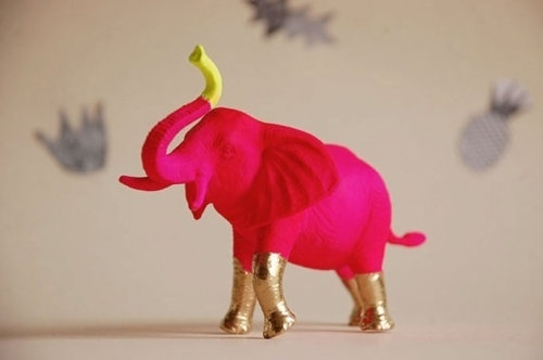 Sara Lindholm - texturism: a. would love this.   vianoraleah #pink #animal #elephant