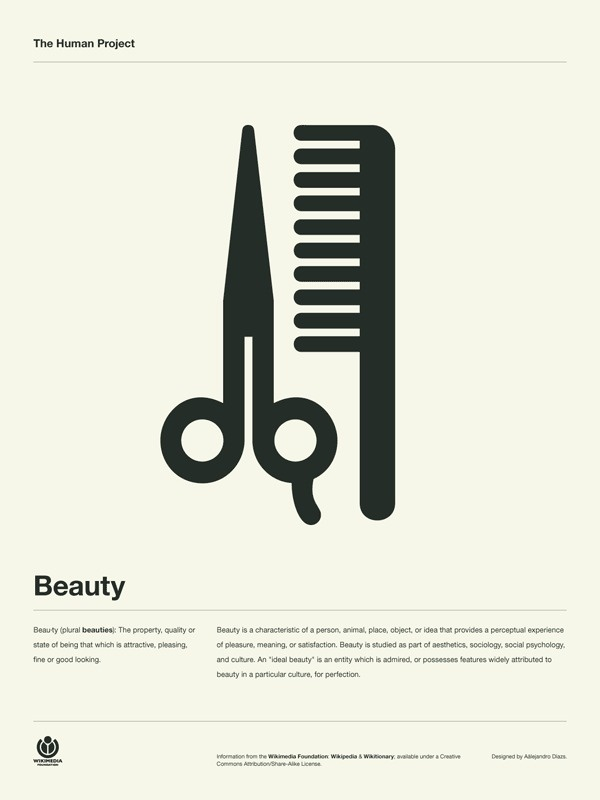 The Human Project Poster (Beauty) #inspiration #creative #information #pictogram #collection #design #graphic #human #grid #system #poster #typography