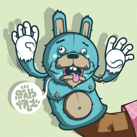 rabbitpuppet3 #vector #design #muppet #rabbit #character