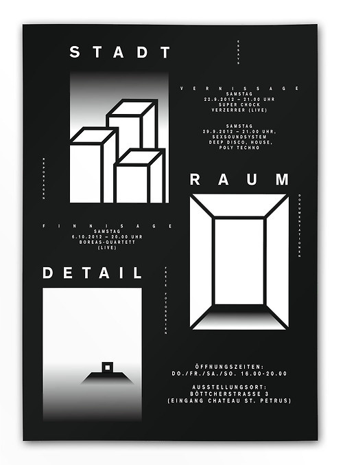 Stadt Raum DetailExhibitionPosterwww.fotoetage.de #cover #poster