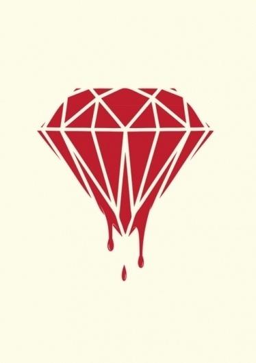 inspiration #blood #diamond #design #red
