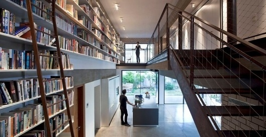 Project - Rechter House - Architizer - Empowering Architecture: architects, buildings, interior design, materials, jobs, competitions, design schools #steel #loft #modern #architecture #library #stair