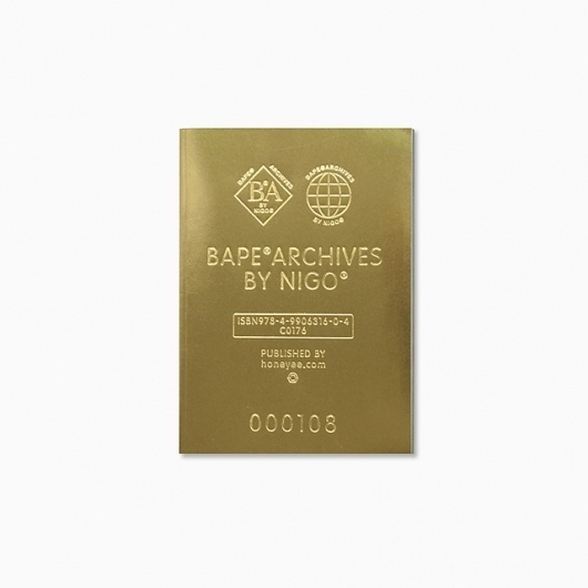 groovisions works BAPE ARCHIVES by NIGO #embossed #book #cover #gold #typography