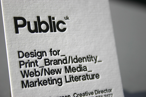 Best Letterpress Business Card Black White Images On Designspiration