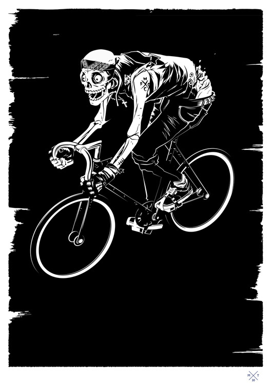 Matt Taylor Illustration #punk #taylor #fixie #matt #illustration #skull