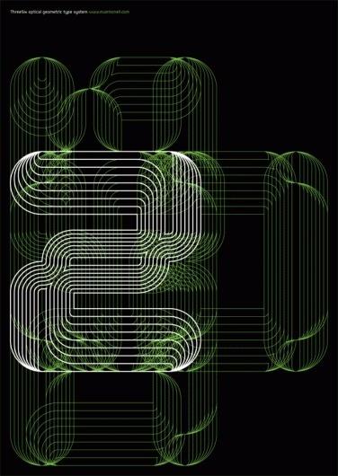 Print-Process #six #black #linear #typeface #poster #three #green
