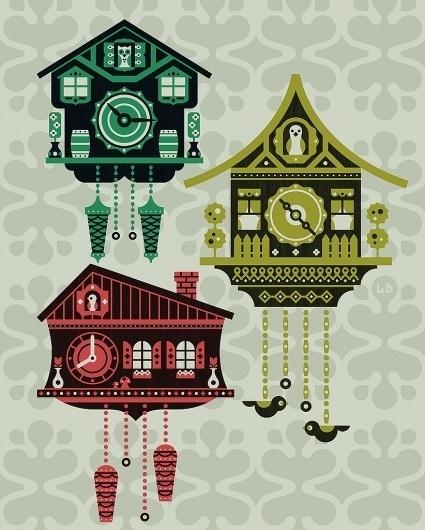 All sizes   Cuckoo Clock   Flickr - Photo Sharing! #cuckoo #illustration #vector #clock