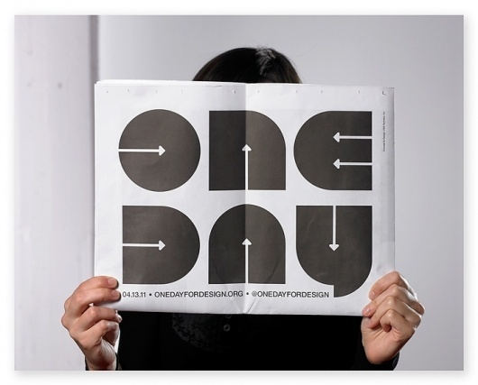 Save the date: VSA creates 'One Day For Design' with AIGA | VSA Partners #newsprint #side #vsa #partners #broad #aiga
