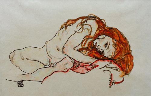 Egon Schiele #woman #egon #schiele #painting #lady