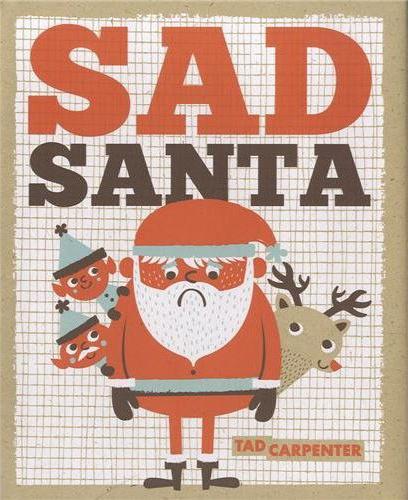 Sad Santa #christmas #illustration #child #book