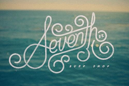Seventh St. Surf Shop logo #design #quality #typography