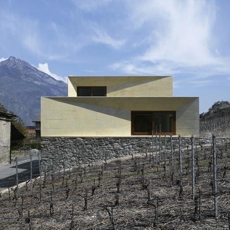 Dezeen » Blog Archive » Charrat Transformation by clavienrossier #alps #swiss #concrete #house #architecture #claviernrossier