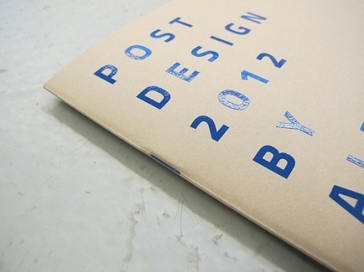 Post Design 2012 on the Behance Network #post #blu #catalog #print #design #graphic #studio #biagetti