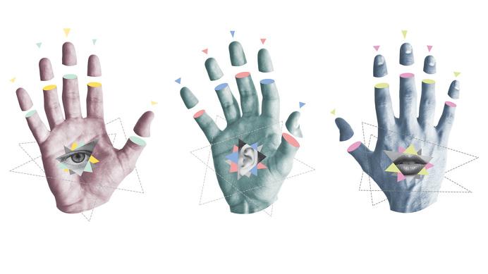 See, Hear, Speak No Evil Hand Collage - John Sippel | vltrr vltrr.com
