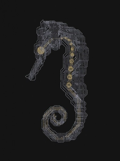 DKNG » Store » Seahorse #seahorse #print #board #circuit #screen #poster #dkng