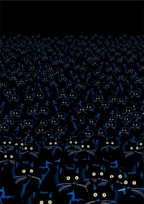 Sebastiano Ranchetti (via Popdesign) #army #group #eyes #doom #night #illustration #cats #painting #dark