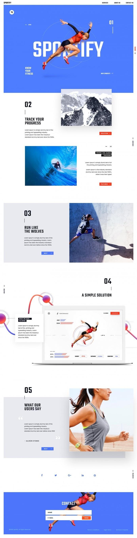Sportify App Landing Page