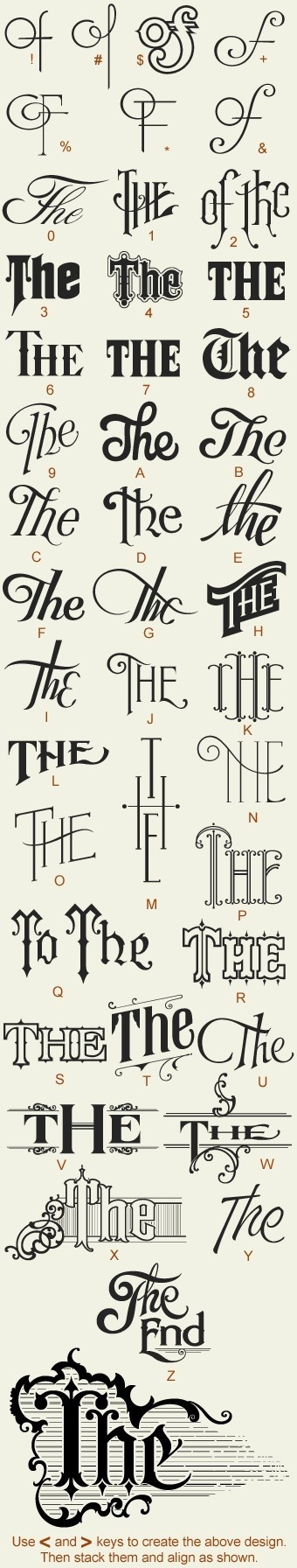 hand lettering variations