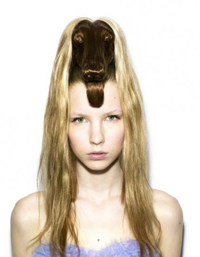 NAGI NODA'S HAIR HATS | Dirty Magazine #hair #animal