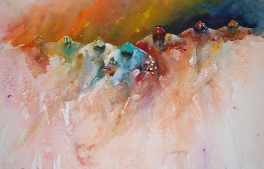 The Magic of Watercolour Painting Virtual Gallery - Jean Haines, Artist - Racing #painting #watercolor #art #racing