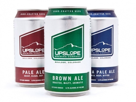 Upslope Brewing Brown Ale | Packaging of the World: Creative Package Design Archive and Gallery #packaging #beer #can