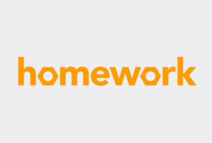 Homework by 2A Studio #typography #logo #logotype #mark