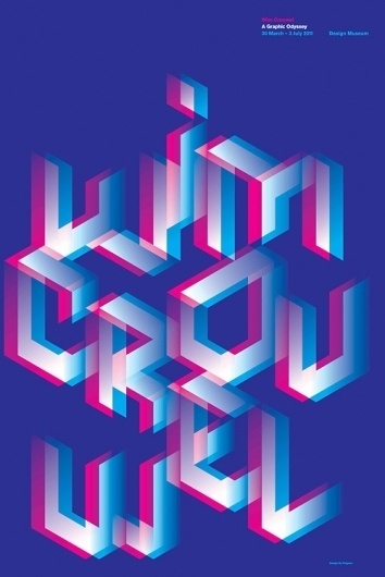 dbp_wim_crouwel_graphic_odyssey_poster.jpg 500×747 pixels #exibition #design #crouwel #poster #wim #type #typography
