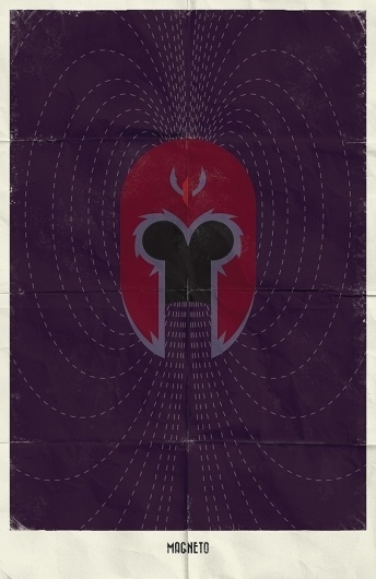 Marvel Minimalist Posters on the Behance Network #magneto
