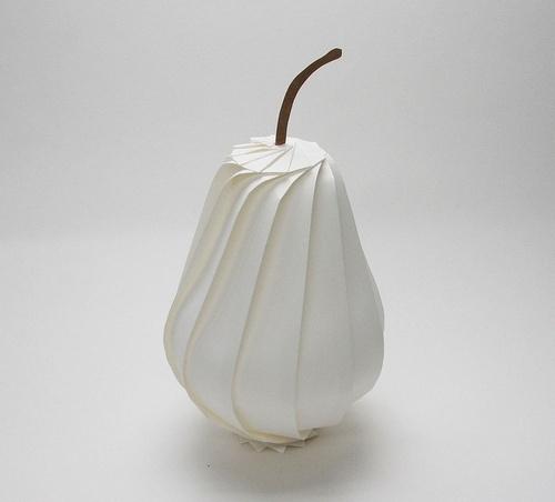 Origami Pear by Jun Mitani